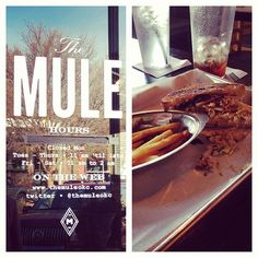 The Mule in OKC... so delicious! It is my favorite favorite place ever. Their salad croutons are MINI GRILLED CHEESE SANDWICHES I MEAN GOOD GOD.