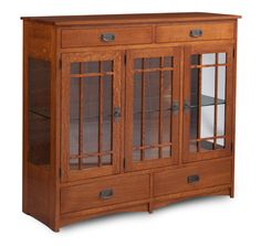 Prairie Mission Dining Cabinet with Plain Glass Doors and Ends from Simply Amish furniture-this is the one I am going to get!!