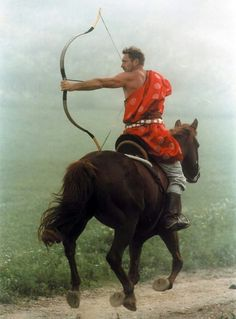 Hungarian horse-archers are famous for their skilled archery on horseback, especially aimed backwards. Mounted Archery, Medieval, World Photography, Action Poses, Interesting History, Guy Pictures, People Of The World, Wine Country, Hungary