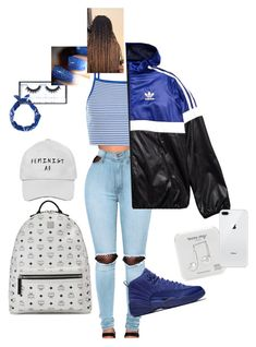 """"""""""" by anayaegu on Polyvore featuring WithChic, adidas Originals, MCM, Happy Plugs and Huda Beauty"""