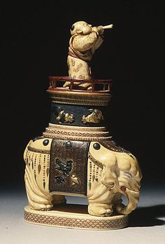 Chessmen (2)  Date: 19th century Culture: Japanese Medium: Ivory Dimensions: H. 5 1/2 in