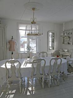 Beautiful white dining room