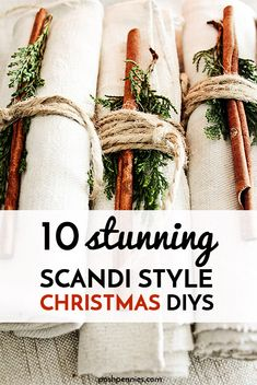 These scandinavian inspired xmas DIYs are so beautiful and so easy, you should definitely check them out! Especially if you're going for a really minimal Christmas decor look this year! #easyDIY #scandinavian #scandi #decor #hygge #xmasdecor #christmasDIY Minimal Christmas, Modern Christmas, Simple Christmas, All Things Christmas, Christmas Crafts, Christmas Ideas, Scandinavian Christmas Decorations, Xmas Decorations, Scandi Style