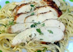 ... featuring Grilled Chicken and Linguini in Lemon Basil Cream Sauce