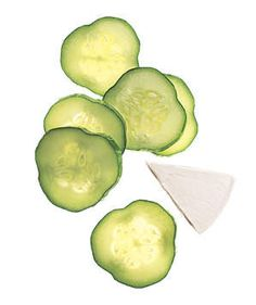 Sliced Cucumbers and Light Swiss Cheese | They're under 200 calories, healthy, satisfying, and pro-approved―what's not to love?