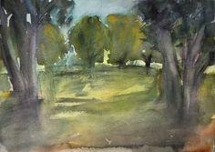 Sirkkaliisa Virtanen : The Park, watercolor