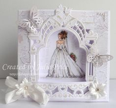 Wedding Shadow box card featuring images by Mo Manning https://julieprice3.wordpress.com/2016/05/21/here-comes-the-bride/