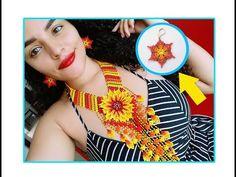 Earrings in mostacilla, 6 petals flower easy to make Seed Bead Jewelry, Seed Beads, Beaded Jewelry, Beaded Bracelets Tutorial, Earring Tutorial, Beaded Flowers, Crochet Flowers, Crochet Flower Tutorial, Beaded Earrings