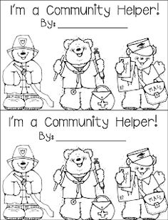 We're finishing up our Community Helpers unit this week- we've been doing a whole lot of random the past few weeks. a little bit of commun. Community Helpers Kindergarten, Community Helpers Activities, Kindergarten Social Studies, Kindergarten Themes, School Community, Classroom Community, Teaching Social Studies, Teaching Themes, Teaching Resources