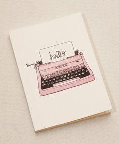 so simple   Vintage Typewriter Printed Cover Notebook Sketchbook Journal