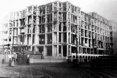 Liver Bldgs. Starting to take shape 1909