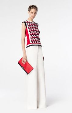 CH Carolina Herrera Spring 2016. Luxury fashion outfit for holiday, day in the office or evening out. Style with a KeriKit changing bag and handbag.