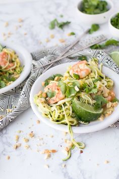 This simple yet delicious recipe for Zoodles Pad Thai is the ideal meal to serve your family during Lent! You won't miss meat or pasta with this fresh recipe. Plus, it's gluten-free, so you can stick to your diet and still love your meal.