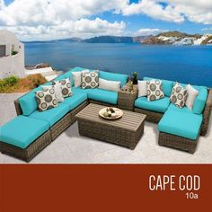 TKC Cape Cod 10 Piece Outdoor Wicker Patio Furniture Set ** This is an Amazon Associate's Pin. Details on product can be viewed on Amazon website by clicking the VISIT button.