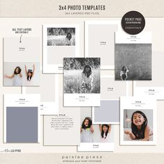 3x4 Photo Templates by paislee press