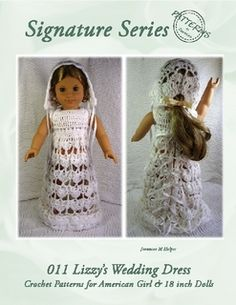dc1956f6dcaf 011 Lizzy's Wedding Dress Ensemble Crochet Pattern for American Girl and 18  inch Dolls Crochet Doll