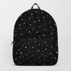 Constellations (black) Backpack/knapsack by Camille Chew - STANDARD Cute Backpacks For School, Cute Mini Backpacks, Stylish Backpacks, Girl Backpacks, Black Backpack, Backpack Bags, Leather Backpack, Vans Backpack, Fashion Bags