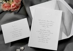 Silver joined hearts Wedding Invitations by Wedding Invitations -The Office Gal