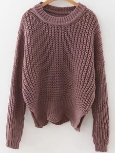Plain pullover sweaters