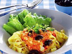 Pasta med morots- och fetasås Receptbild - Allt om Mat