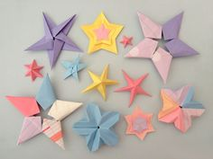 Different origami stars! So cool for a wall design