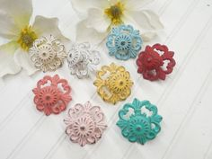 Shabby Chic Knob-32 Colors/Cabinet Knobs/ Knobs/ Drawer Pulls/ Dresser Knobs/ Nursery Decor/ Pink/ Coral/ Blue/ Ivory/ Distressed by TheShabbyStore on Etsy https://www.etsy.com/listing/240686990/shabby-chic-knob-32-colorscabinet-knobs
