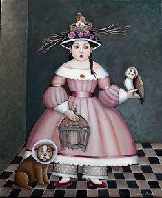 Berenice 60 cm x 73 cm - Marie Amalia Mixed Media Art, Disney Characters, Fictional Characters, Princess Zelda, Drawings, Poster, Painting, Animals, Empty
