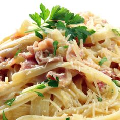 My favorite food in the whole world...Fettucine Carbonara...god, I'm starving lol
