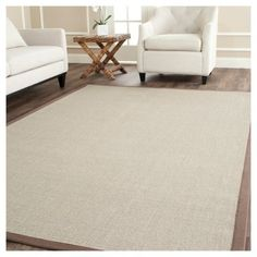 Klara Natural Fiber Area Rug - Taupe / Light Brown (9' X 12') - Safavieh, Brown/Light Brown, Durable
