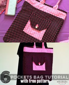 6 Pocket Pro Handbags Tutorial (Free Pattern) - Sew Some Stuff