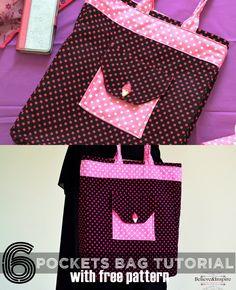 6 Pocket Pro Handbags Tutorial (Free Pattern) - Sew Some Stuff