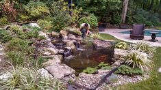 Paving Stone Patio, Paving Stones, Pond Netting, Pond Maintenance, Outdoor Living, Outdoor Decor, End Of Summer, Swimming Pools, Waterfall