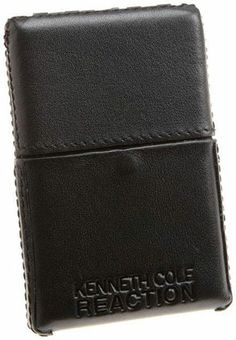 "Kenneth Cole Reaction Leather ""Trading Cards"" Business C_c - Black"