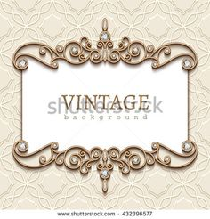 Vintage golden frames with diamond invitation vector 01 card vintage gold frame on white divider element elegant vector background with jewelry gold borders buy this stock vector on shutterstock find other stopboris Choice Image