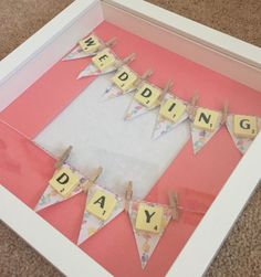 Wedding day photo frame. Scrabble art. Wedding gift. by Waystosay on Etsy https://www.etsy.com/listing/223881942/wedding-day-photo-frame-scrabble-art