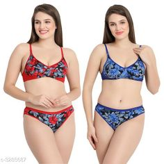 Lingerie Sets Comfy Women's Cotton Lingerie Set (Pack Of 2) Fabric: Cotton Sleeves: Sleeves Are Not Included Size: 30B: Cup Size - Underbust - 25 in To 26 in Overbust - 31 in To 32 in Waist - 28 in Hip - 34 in 32B: Cup Size - Underbust - 27 in To 28 in Overbust - 33 in To 34 in Waist - 31 in Hip - 36 in 34B: Cup Size - Underbust - 29 in To 30 in Overbust - 35 in To 36 in Waist - 33 in Hip - 38 in 36B: Cup Size - Underbust - 31 in To 32 in Overbust - 37 in To 38 in Waist - 37 in Hip - 40 in Type: Stitched Description: It Has 2 Pieces Of Bras & 2 Pieces of Panties Work: Printed Country of Origin: India Sizes Available: 30C, 32C, 34C, 36C, 30A, 32A, 34A, 36A, S, 38A, M, L, XL, 30B, 32B, 34B, 36B   Catalog Rating: ★4 (4440)  Catalog Name: Trendy Women'S Cotton Lingerie Set Vol 4 CatalogID_454073 C76-SC1043 Code: 991-3285687-