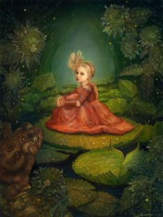 THUMBELINA IN THE MARSH - THUMBELINA AND THE FOUR SEASONS BY ANNIE STEGG