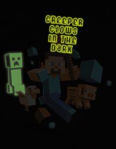 J!NX : Minecraft Run Away! Glow in the Dark Premium Tee - Clothing Inspired by Video Games & Geek Culture