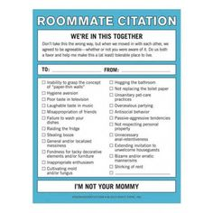 Roommate Citation Nifty Note - Desk - Dorm + Apt. may order this right now!