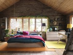 34 bedroom designs to be inspired by. It was difficult to select just one image for this Pin, but I love the rustic feel of the one shown in the thumbnail. The hats on the wall are such a charming addition.