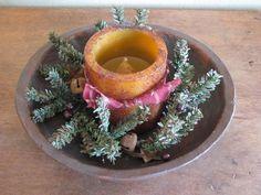 Primitive Christmas Candle Centerpiece