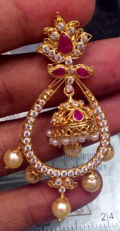 Page 7 – boutique designer jewellery india Gold Jhumka Earrings, Jewelry Design Earrings, Gold Earrings Designs, Gold Jewellery Design, Gold Jewelry, Beaded Jewelry, Jewelery, Designer Jewellery, India Jewelry