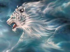 白虎 (White Tiger) Byakko is one of the four symbols of the Chinese constellation, oftentimes referred to as the White Tiger of the West, representing this direction and the autumn season. Tiger Wallpaper, Animal Wallpaper, Hd Wallpaper, Wallpaper Downloads, Magical Creatures, Fantasy Creatures, Fantasy World, Fantasy Art, Chinese Mythology