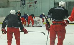 Cam Ward got trapped at practice today.