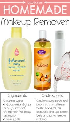 #15. Homemade Makeup Remover -- 22 Everyday Products You Can Easily Make From Home (for less!) These are all so much healthier, too!