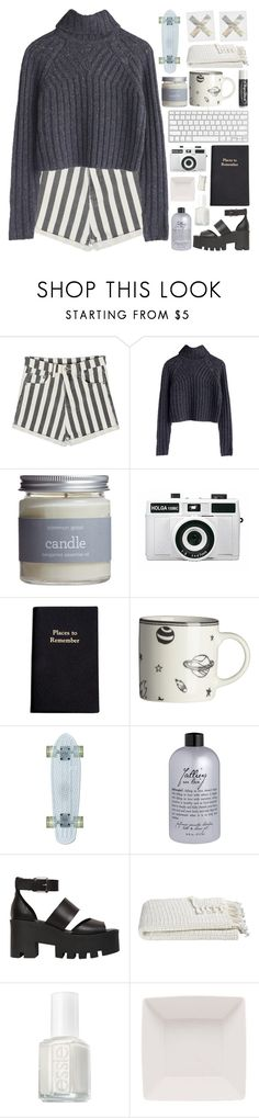"""141. I Honestly Don't Mean To Alarm You But My Lunch Was Great"" by elainesabine ❤ liked on Polyvore featuring Common Good, Holga, Leathersmith, H&M, Chapstick, philosophy, Windsor Smith, Crate and Barrel, Essie and country"