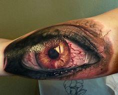 realistic #eye #tattoo #eyetattoo