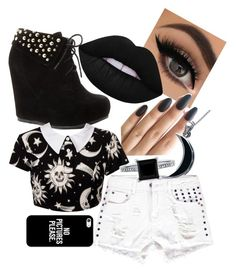 """Untitled #71"" by tumblr-32213 ❤ liked on Polyvore featuring Carolina Glamour Collection, Kill Star, Lime Crime, Boohoo, BERRICLE and Casetify"