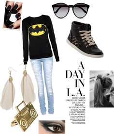 """A DAY IN L.A."" by majordirectioner on Polyvore"