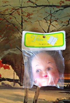 Fibre-Craft Doll Face Plastic Fifties NOS for by SpaceModyssey